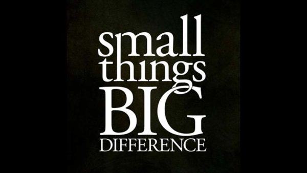 Small Things, BIG Differences